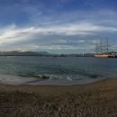 San Francisco Bay just before sundown